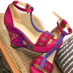 Handmade Wedge Sandals from Guatemala